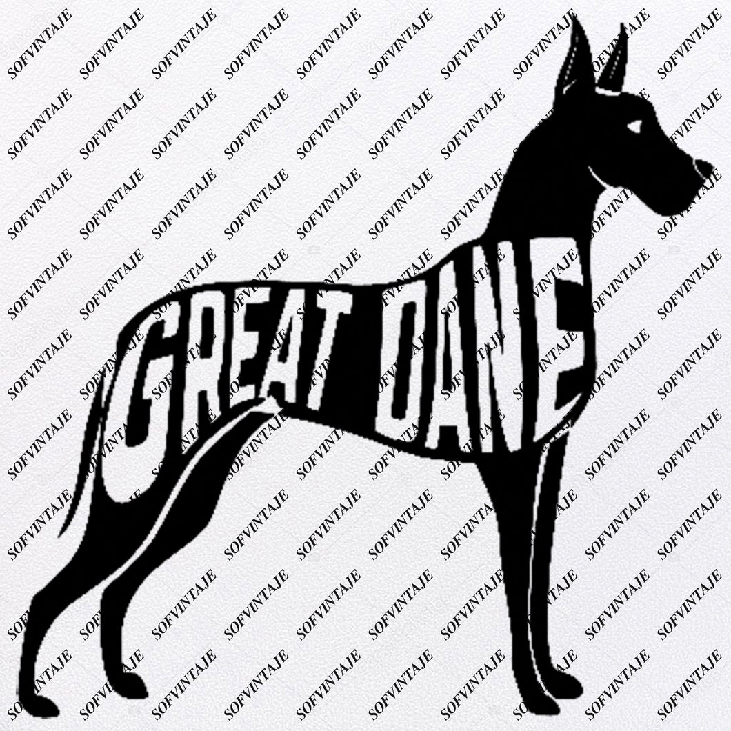 Dog - Gret Dane  Dog Svg File - Gret Dane Original Design - Dog Gret Dane Clip art - Animals Svg File - Gret Dane Vector Graphics - Svg For Cricut - For Silhouette - SVG - EPS - PDF - DXF - PNG - JPG - AI