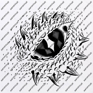 Dragon - Dragon Eye Svg File - Dragon Eye For Cricut - Dragon Eye Vector Images Clipart - SVG files For Silhouette - SVG - EPS - PDF - DXF - PNG - JPG - AI