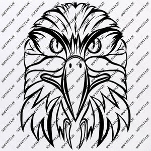 Eagle Svg File - Eagle Original Svg Design - Tattoo Svg - Clip art - Eagle Vector Graphics-Svg For Cricut - Svg For Silhouette - SVG - EPS - PDF - DXF - PNG - JPG - AI