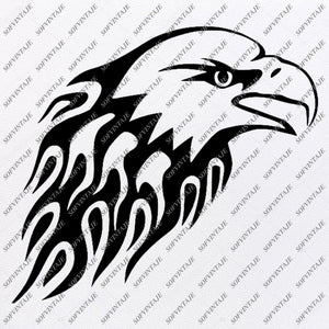 Eagle Head Svg File-Eagle Original Svg Design-Tattoo Svg-Clip art-Eagle Head Vector Graphics-Svg For Cricut - Svg For Silhouette - SVG - EPS - PDF -DXF - PNG - JPG - AI