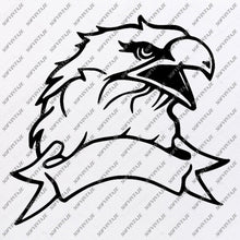 Load image into Gallery viewer, Eagle Head Svg File-Eagle Original Svg Design-Tattoo Svg-Clip art-Eagle Head Vector Graphics-Svg For Cricut - Svg For Silhouette - SVG - EPS - PDF -DXF - PNG - JPG - AI