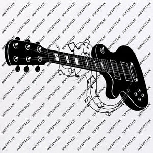 Electric Guitars Svg File-Electric Guitars Original Svg Design-Music Svg-Clip art- Vector Graphics-Svg For Cricut-Svg For Silhouette - SVG - EPS - PDF - DXF - PNG - JPG - AI