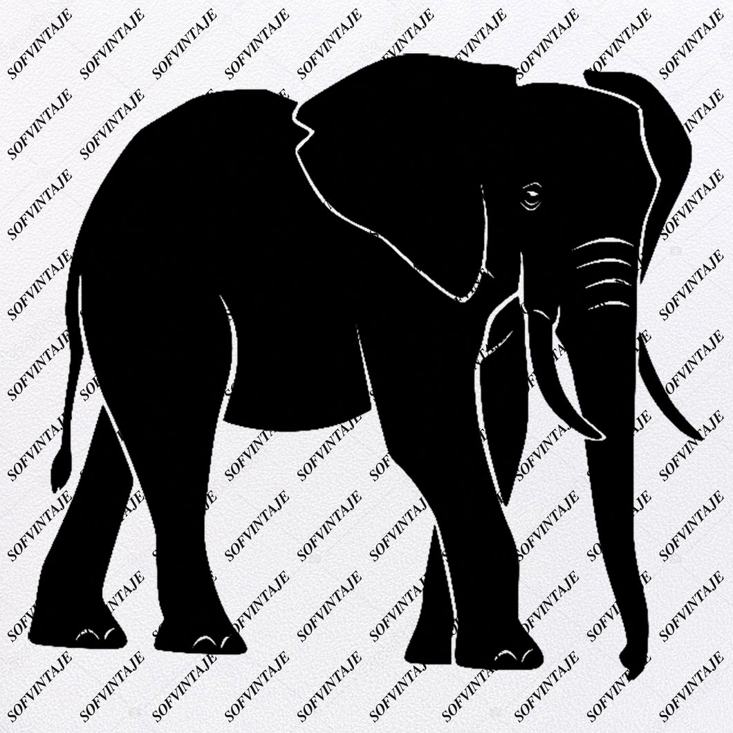 Elephant - Elephant Svg File - Animals Svg - Animals Svg - Elephant Png - Vector Graphics - Svg For Cricut - Svg For Silhouette - SVG - EPS - PDF - DXF - PNG - JPG - AI