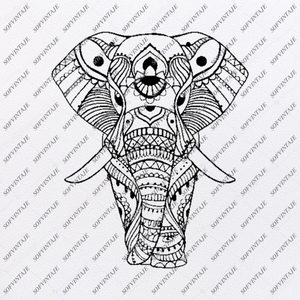 Elephant Svg File - Animals Svg - Wild Animals Svg - Elephant Png - Vector Graphics - Svg For Cricut - Svg For Silhouette - SVG - EPS - PDF - DXF - PNG - JPG - AI