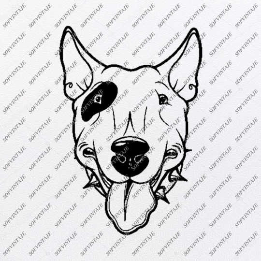 English Bull Terrier Svg File-Tattoo Svg Original Design-Dog Clip art-Animals Svg File-Vector Graphics-Svg For Cricut-For Silhouette - SVG - EPS - PDF - DXF - PNG - JPG - AI