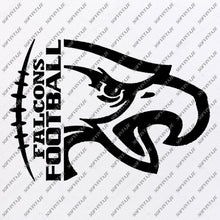 Load image into Gallery viewer, Falcons Football Svg File - Football Svg - Football Team Mascot - Falcon Svg - Football Clipart - Svg For Cricut - For Silhouette - SVG - EPS - PDF - DXF - PNG - JPG - AI