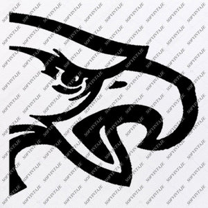 Falcons Football Svg File - Football Svg - Football Team Mascot - Falcon Svg - Football Clipart - Svg For Cricut - For Silhouette - SVG - EPS - PDF - DXF - PNG - JPG - AI