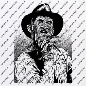 Freddy Kruger Svg File-Freddy Kruger Svg Design-Clipart-Freddy Svg File-movie hero Png-Vector Graphics-Svg For Cricut-For Silhouette - SVG - EPS - PDF - DXF - PNG - JPG - AI