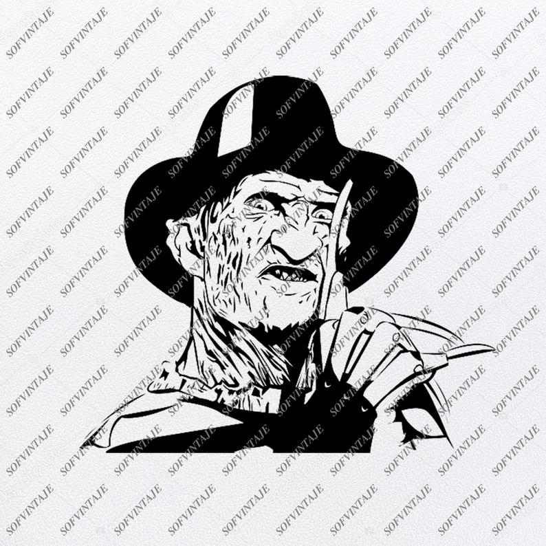 Freddy Kruger Svg File-Freddy Kruger Svg Design-Clipart-Freddy Svg File-movie hero Png-Vector Graphics-Svg For Cricut-For Silhouette-DXF-EPS