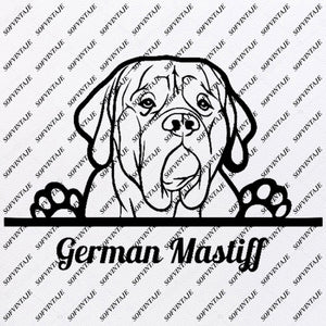German Mastiff - German Mastiff Svg File - Dog German Mastiff - German Mastiff  Original Design - Dog Clip art - Animals Svg File-Vector Graphics-Svg For Cricut-For Silhouette - SVG - EPS - PDF - DXF - PNG - JPG - AI