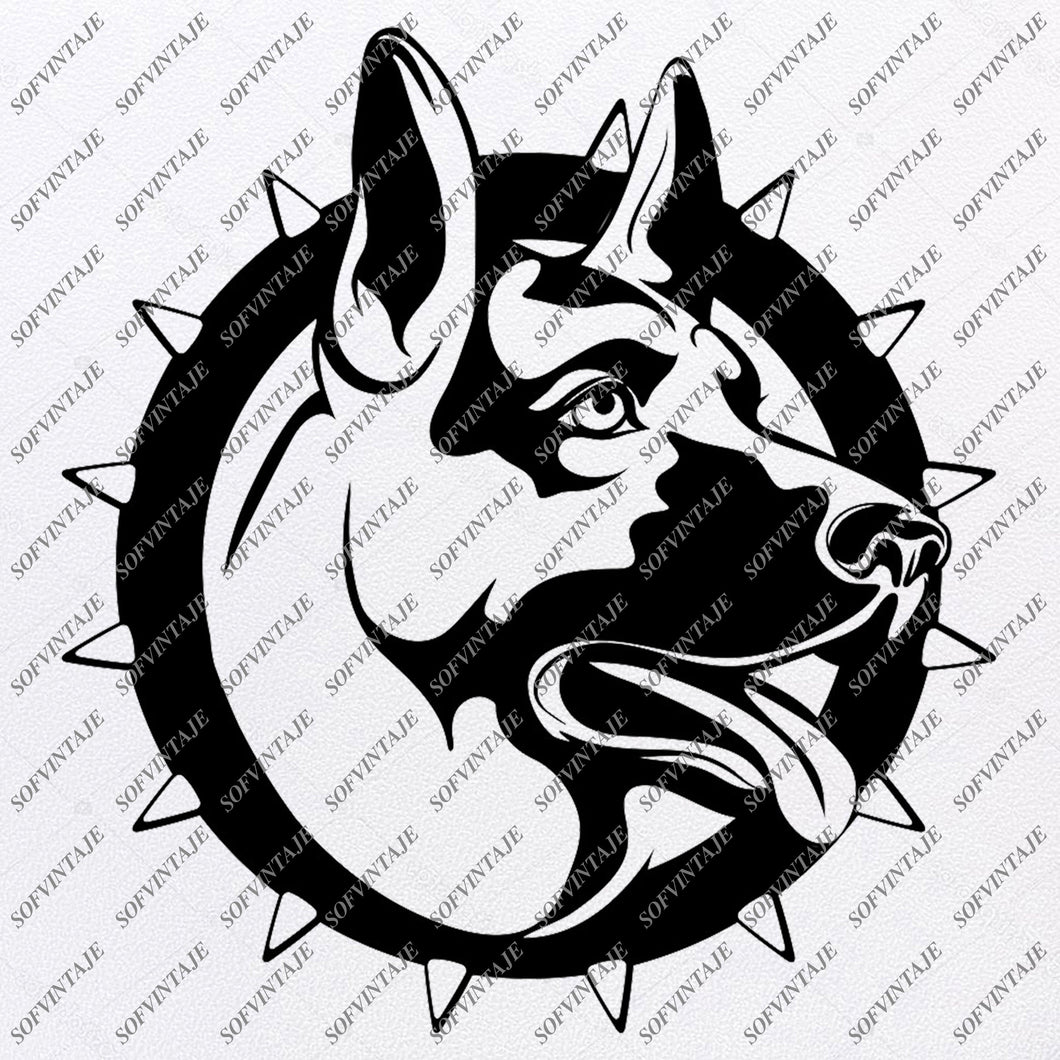 German Shepherd Svg File- Shepherd Svg Original Design-Dog Clip art-Animals Svg File-Vector Graphics-Svg For Cricut-For Silhouette - SVG - EPS - PDF - DXF - PNG - JPG - AI