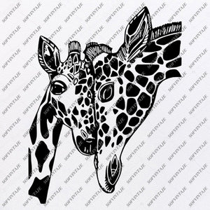 Giraffe Svg File - Giraffe Cut File - Safari Animals Svg - African Animals Clip art - Giraffe Png - Svg For Cricut - For Silhouette - SVG - EPS - PDF - DXF - PNG - JPG - AI