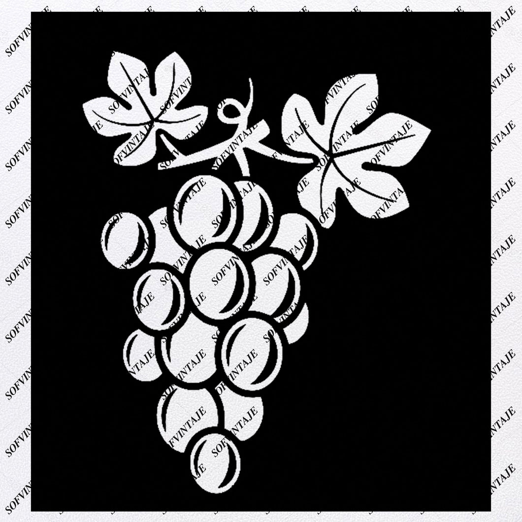 Grape Svg File - Grape Svg - Grape Png - Fruit Svg - Grape Clip art - Svg For Cricut - Svg For Silhouette - SVG - EPS - PDF - DXF - PNG - JPG - AI