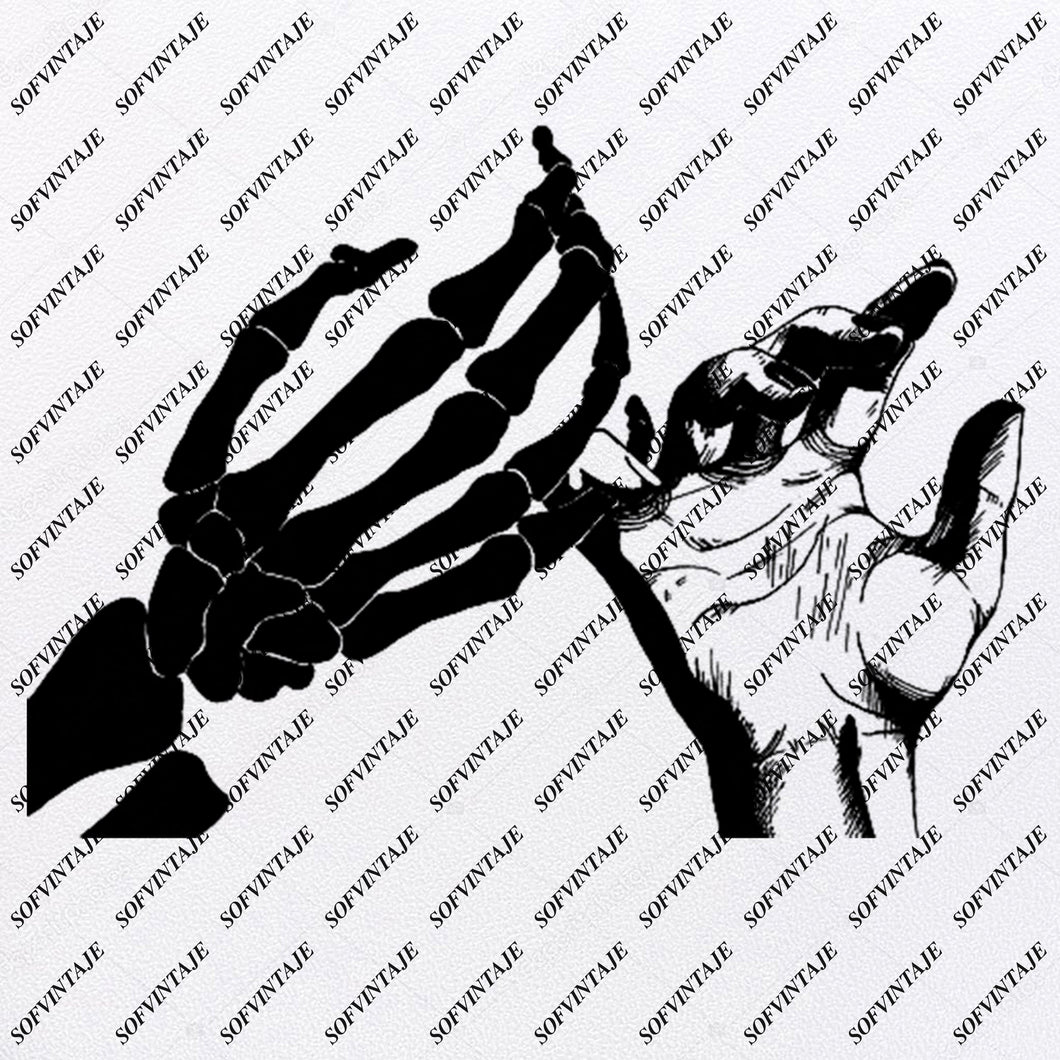 Hand And Skeleton - Hand And Skeleton Svg File - Hand Svg File - Black White Hand Clip art - Arms Svg File - Hand And Skeleton Clipart-Svg For Cricut - For Silhouette - SVG - EPS - PDF - DXF - PNG - JPG - AI