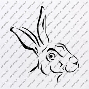 Hare Svg File-Hare Original Svg Design-Funny Hare Svg- Hare  For Tattoo-Clip art-Hare Vector Graphics-Svg For Cricut-Svg For Silhouette - SVG - EPS - PDF - DXF - PNG - JPG - AI