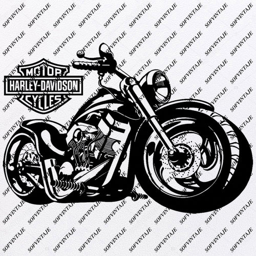 Harley Davidson - Harley Davidson Svg File - Harley Davidson Svg Design-Harley Davidson Clipart - Harley Davidson Motorcycle - Motorcycle Vector Graphics - Svg For Cricut - For Silhouette - SVG - EPS - PDF - DXF - PNG - JPG - AI