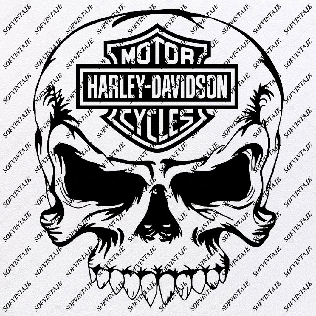 Harley Davidson - Harley Davidson Svg File - Skull Svg Design - Clipart-Motorcycles Svg File-Davidson Png - Vector Graphics-Svg For Cricut - For Silhouette - SVG - EPS - PDF - DXF - PNG - JPG - AI
