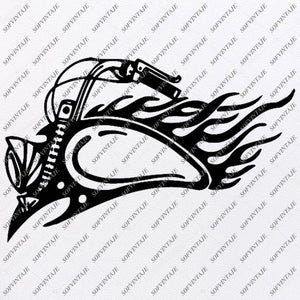 Harley Davidson-Motorcycle Harley Davidson Svg File-Vector Graphics-Svg For Cricut-Motorcycle For Tattoo-Svg For Silhouette-SVG-EPS-PDF-DXF-PNG-JPG-AI