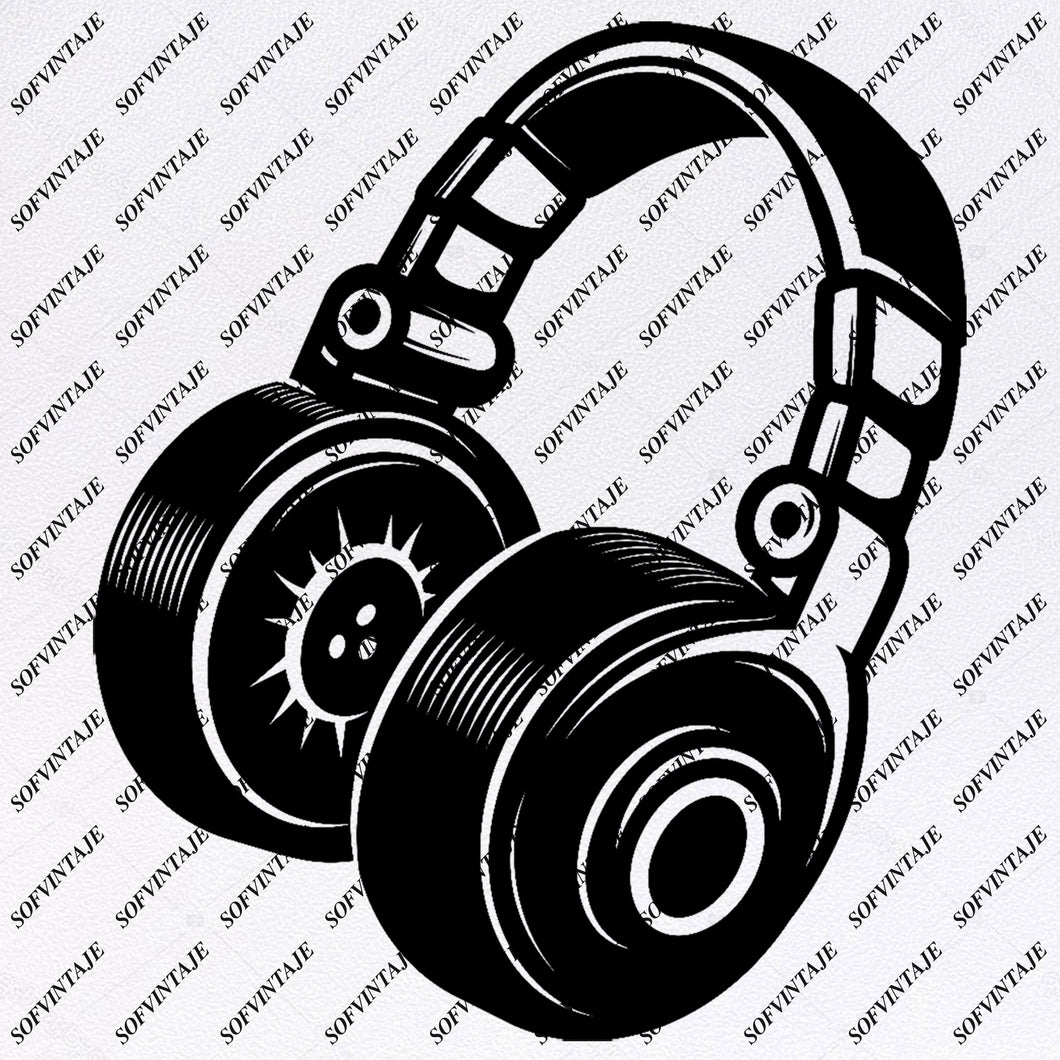Headphones Svg File - Music Headphones Svg - Music Notes Svg - Headphones Clip art - Svg For Cricut - Svg For Silhouette - SVG - EPS - PDF - DXF - PNG - JPG - AI