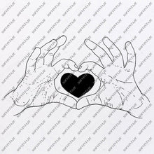 Load image into Gallery viewer, Heart Romance Love Svg File- Heart Original Svg Design-Clip art-Heart Vector Graphics-Svg For Cricut-Svg For Silhouette - SVG - EPS - PDF - DXF - PNG - JPG - AI