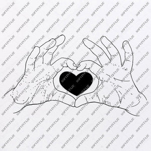 Heart Romance Love Svg File- Heart Original Svg Design-Clip art-Heart Vector Graphics-Svg For Cricut-Svg For Silhouette - SVG - EPS - PDF - DXF - PNG - JPG - AI