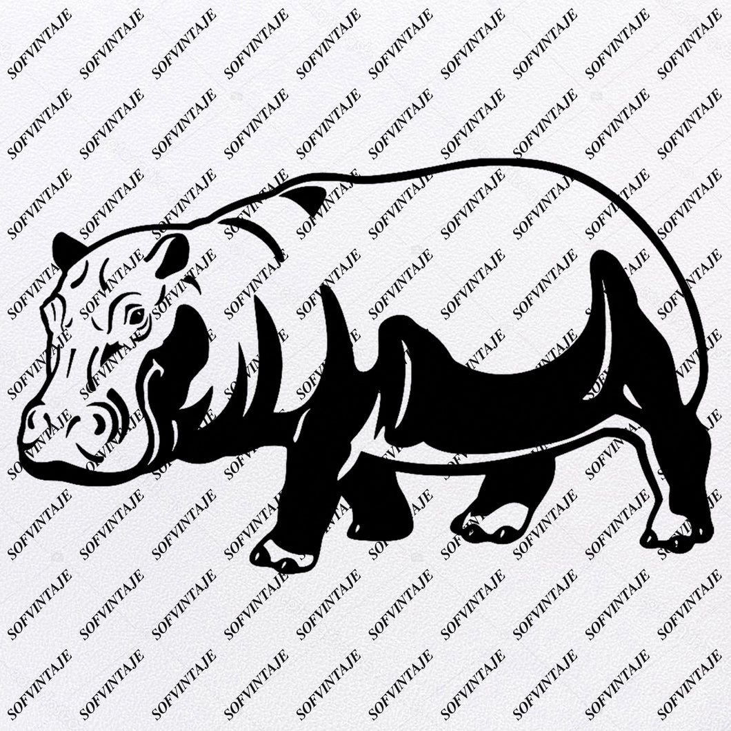 Hippopotamus Svg File - Hippopotamus Original Design -Hippopotamus Clip art - Animals Svg Files - Wild Animals Clipart - Svg For Cricut -For Silhouette-Crocodile- SVG- EPS- PDF- DXF-PNG- JPG- AI
