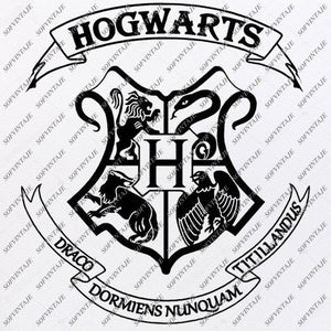 Hogwarts Emblem Svg File - Muggle Svg - Hogwarts Logo Svg - Harry Potter Svg - Vector Graphics - Svg For Cricut - For Silhouette - SVG - EPS - PDF - DXF - PNG - JPG - AI
