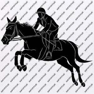 Horse - Horse Riding Svg File - Horse Svg Design - Animals Svg - Horse Riding Clipart - Svg For Cricut - Svg For Silhouette - Horse Vector Graphic - SVG - EPS - PDF - DXF - PNG - JPG - AI