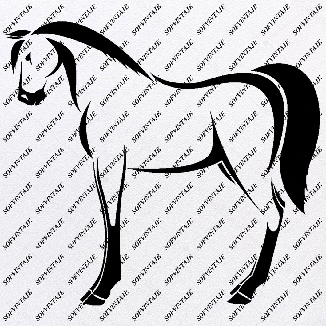Horse Svg File - Horse Svg Design - Animals Svg - Horse Clipart - Svg For Cricut - Svg For Silhouette - Horse Vector Graphic - SVG - EPS - PDF - DXF - PNG - JPG - AI