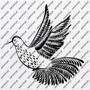 Hummingbird - Hummingbird Svg File - Tattoo Svg Design - Clipart - Hummingbird Svg Files - Hummingbird Png - Hummingbird Vector Graphics - Svg For Cricut - For Silhouette - SVG - EPS - PDF - DXF - PNG - JPG - AI