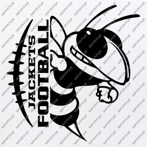 Jackets Football Svg File - Football Svg - Jacket Football - Football Team Mascot - Clip art - Svg For Cricut - For Silhouette - SVG - EPS - PDF - DXF - PNG - JP[G - AI