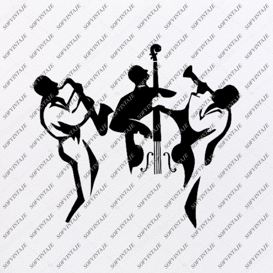 Jazz Svg File-Musical Genre Svg Design-Clipart-Music Svg File-Musical Genre Jazz Png-Vector Graphics - Svg For Cricut-For Silhouette - SVG - EPS - PDF - DXF - PNG - JPG - AI