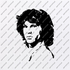 Jim Morrison Svg File-Jim Morrison Svg Design-Clipart-Music Svg File-Music Png-Vector Graphics - Svg For Cricut - For Silhouette - SVG - EPS - PDF - DXF - PNG - JPG - AI