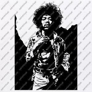 Jimi Hendrix Svg File- JimiHendrix Svg Design - Clipart - Music Svg File - Artist Png - Vector Graphics - Svg For Cricut - For Silhouette - SVG - EPS - PDF - DXF - PNG - JPG - AI