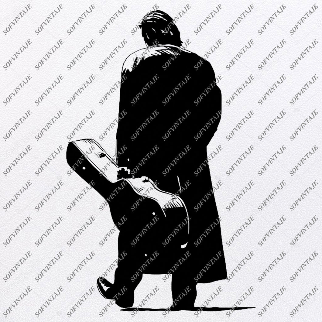 Johnny Cash Svg File-Johnny Cash Svg Design-Clipart-Singer Actor guitarist Svg File-Vector Graphics-Svg For Cricut-For Silhouette - SVG -EPS - PDF - DXF - PNG -JPG - AI