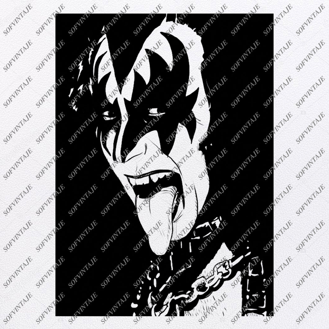 Kiss-Gene Simmons Svg File-Kiss Svg Design-Clipart-Svg-Gene Simmons Png-Gene Simmons Vector Graphics-Svg For Cricut-For Silhouette -SVG - EPS - PDF - DXF - PNG - JPG - AI