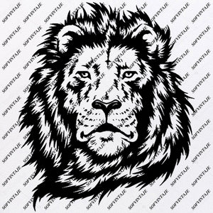 Lion - Lion Svg File - King  Animals Svg Files  - Lion Clip art - Wild Animals Png - Lion King  Vector Graphics - Svg For Cricut - Svg For Silhouette - SVG - EPS - PDF - DXF - PNG - JPG - AI