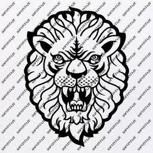 Lion Svg File - Animals Svg - Lion Clip art - Wild Animals Png - Vector Graphics - Svg For Cricut - Svg For Silhouette - SVG - EPS - PDF - DXF - PNG - JPG - AI