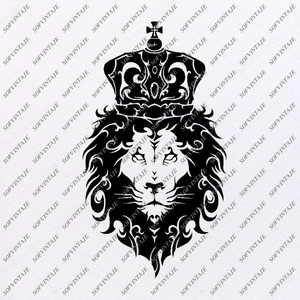 Lion Svg File-Lion Svg Design-Clipart-Animals Svg File-Аnimal Кing Png-Vector Graphics-Svg For Cricut-For Silhouette - SVG - EPS - PDF - DXF - PNG - JPG - AI