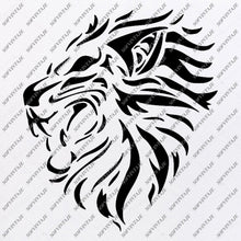 Load image into Gallery viewer, Lion Svg File - Animals Svg - Lion Clip art - Wild Animals Png - Vector Graphics - Svg For Cricut - Svg For Silhouette - SVG - EPS - PDF - DXF - PNG - JPG - AI