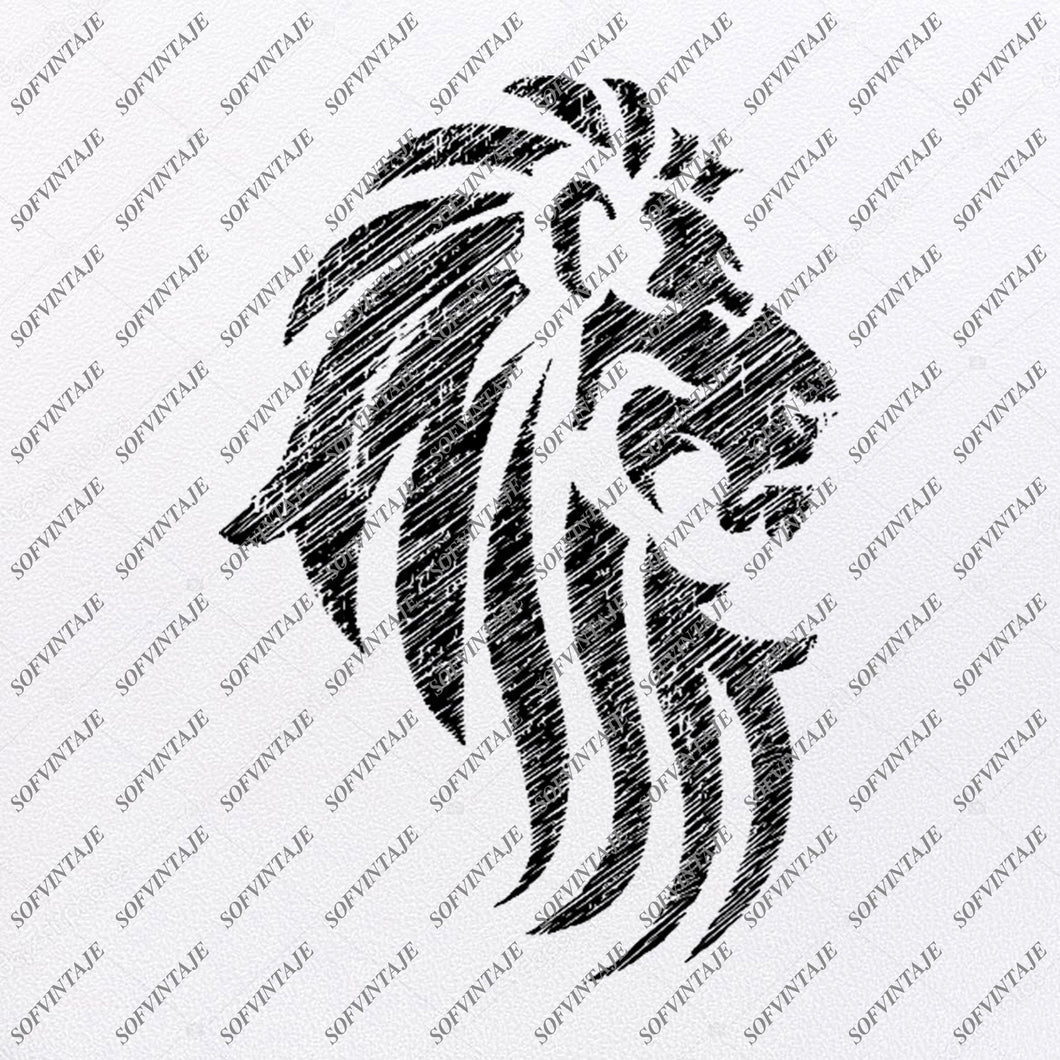 Lion Svg File - Lion Svg Design - Clipart - Animals Svg File - Animals Png - Vector Graphics - Svg For Cricut - For Silhouette - SVG - EPS - PDF - DXF - PNG - JPG - AI