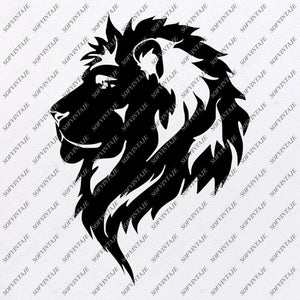 Lion Svg File - Lion Svg Design - Lion Clipart - Animals Svg - Animals Clip art - Vector Graphics - For Cricut - For Silhouette - SVG - EPS - PDF - DXF - PNG - JPG - AI