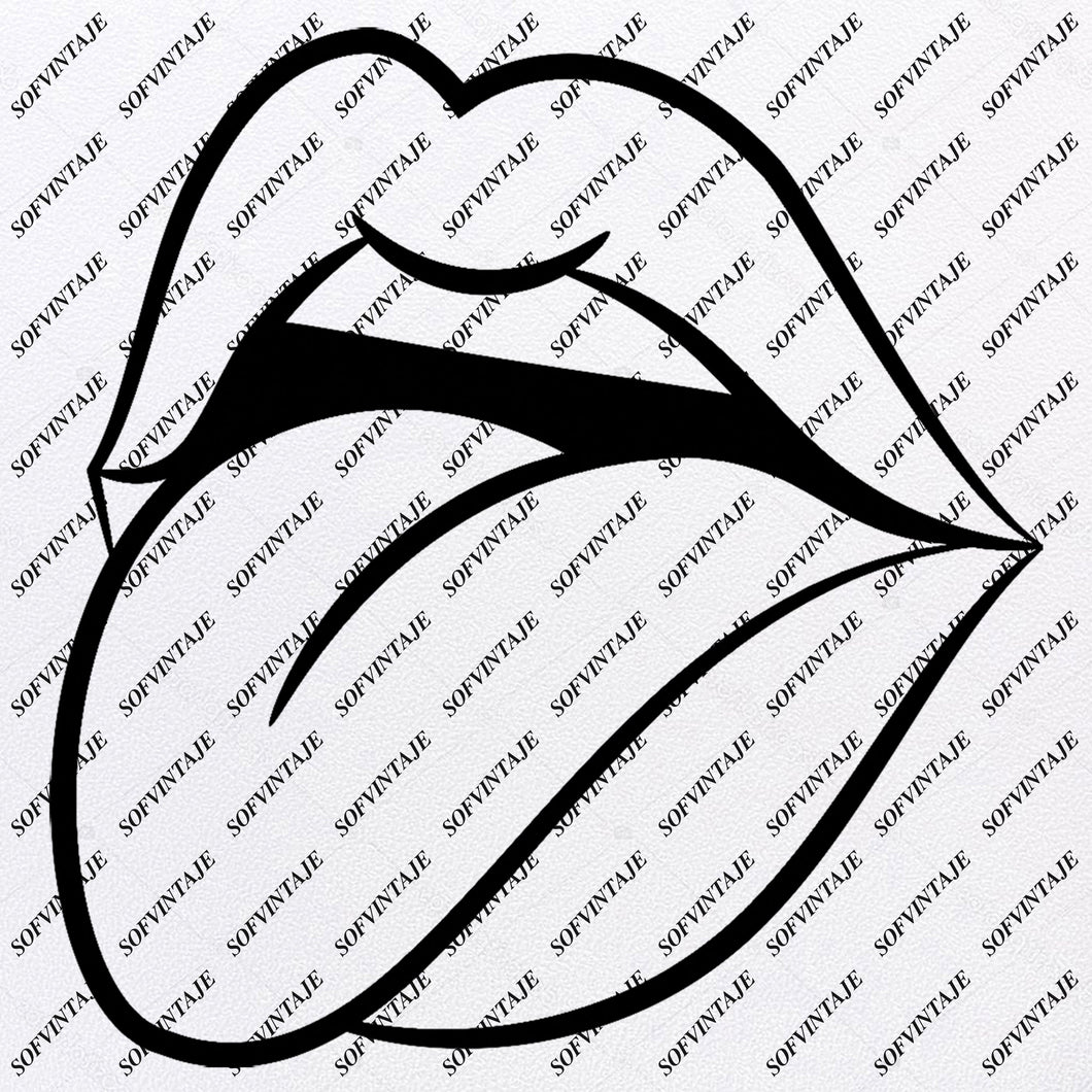 Lips - Lips Svg File- Lips Original Design-Lips Clip art-Lips Svg Files-Lips Clipart-Svg For Cricut-For Silhouette - SVG - EPS- PDF -DXF - PNG - JPG - AI