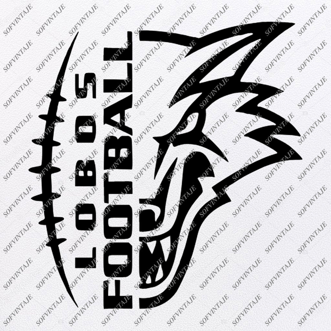 Lobos Football Svg File - Football Svg - Football Clip art - Wolves Svg - Team Mascot Svg - Svg For Cricut - Svg For Silhouette - SVG - EPS - PDF - DXF - PNG - JPG - AI