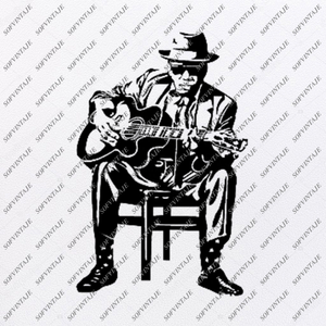 Man with a guitar Svg File-Guitar music Svg Design-Clipart-Music Svg File-Guitar music Png-Vector Graphics -Svg For Cricut-For Silhouette - SVG - EPS - PDF - DXF - PNG - JPG - AI