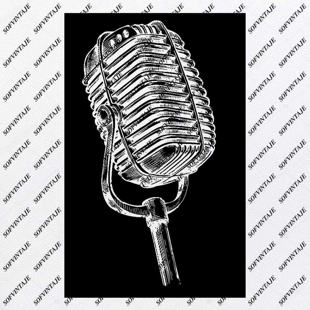 Microphone Svg File-Music Svg Design-Melody Clipart-Music Svg File-Music Png-Vector Graphics - Svg For Cricut-For Silhouette - SVG - EPS - PDF - DXF - PNG - JPG - AI