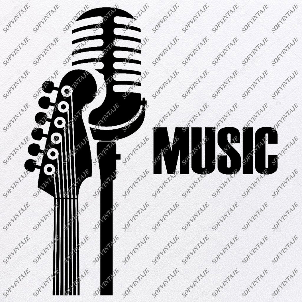 Music - Music Svg File - Music Svg Design-Clipart-Music Svg File-Note Png-Vector Graphics - Svg For Cricut-For Silhouette - SVG - EPS - PDF - DXF - PNG - JPG - AI