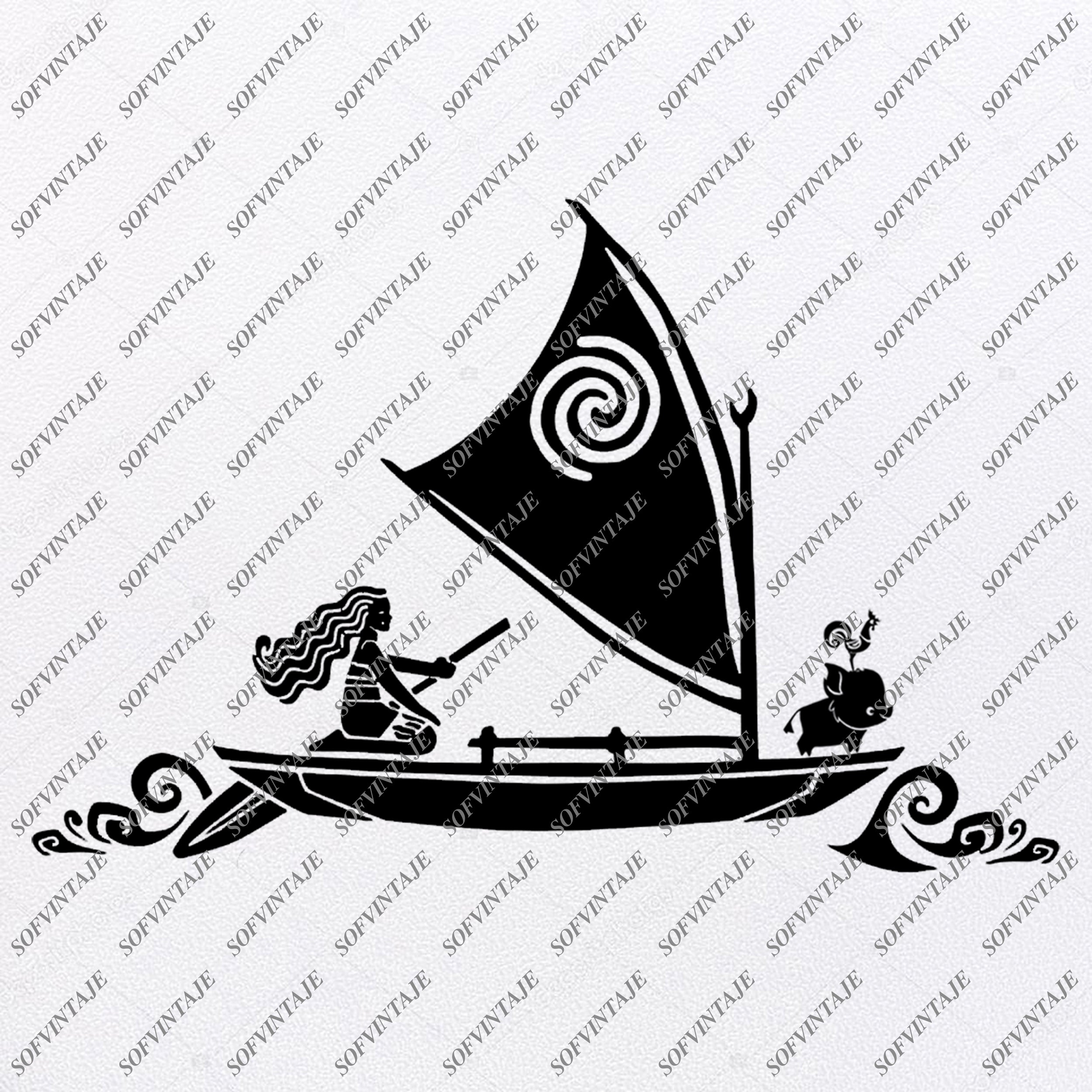 Moana Svg Files Disney Moana Svg Design Princess Moana Png Moana Sofvintaje