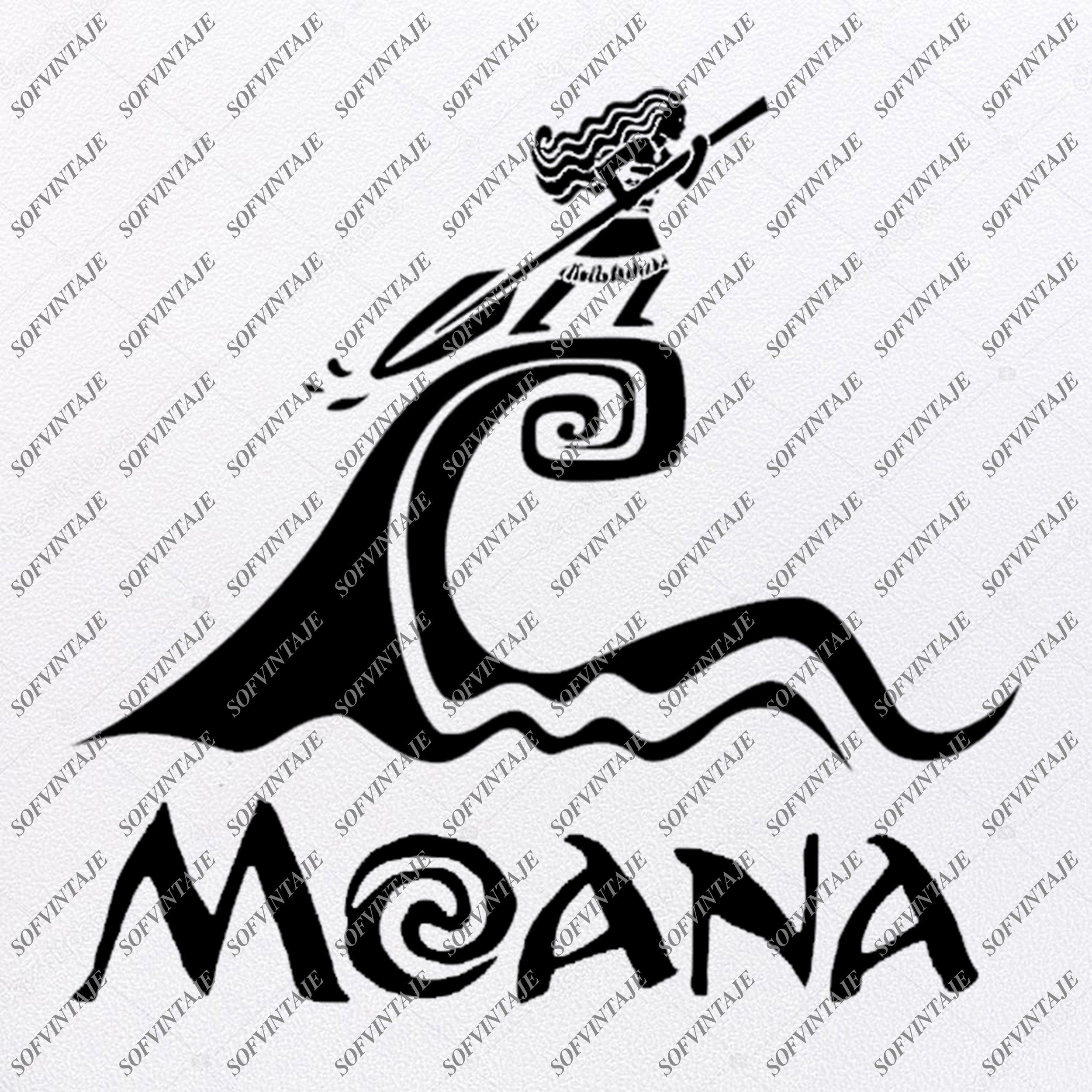 Moana Svg Files Moana Svg Design Moana Png Files Silhouette Cli Sofvintaje