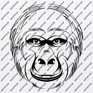 Monkey - Monkey Svg File - Monkey Svg Design - Clipart - Monkey Animals Svg File - Animals Png - Monkey Vector Graphics - Svg For Cricut - For Silhouette - SVG - EPS - PDF - DXF - PNG - JPG - AI